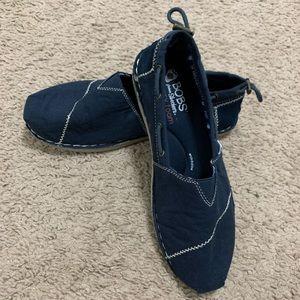 Navy Blue Bobs size 8